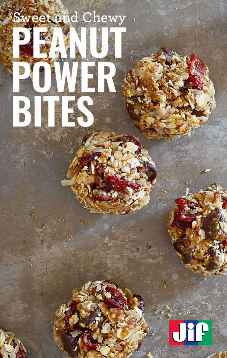 Enjoy a delicious treat on the go with our Peanut Power Bites recipe. It only takes 15 minutes to make and includes ingredients like peanut powder, dried cranberries, oats and honey. You're sure to enjoy them.