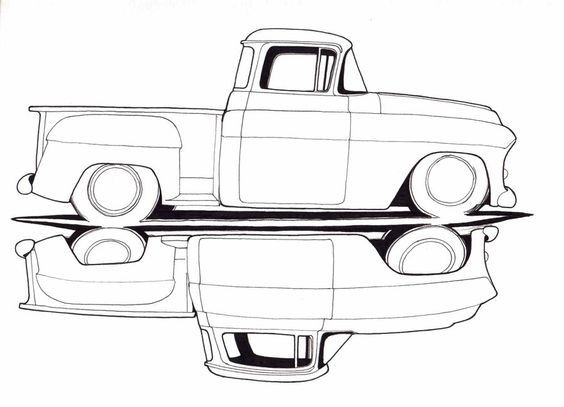 old truck drawings