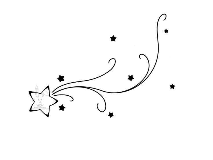 Shooting Star Tattoo Design By Vivafleur | Tattoo Design Ideas
