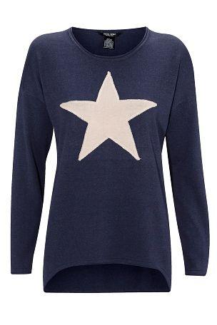 Genser med stjerne fra Ellos. Om denne nettbutikken: http://nettbutikknytt.no/ellos-no/