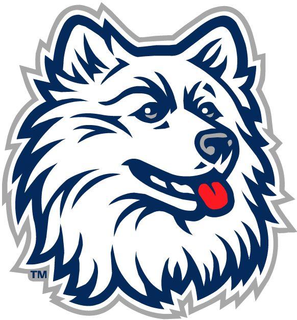 UConn Huskies Primary Logo (1996) - White Huskie head. | Balls & Helmets | Pinterest