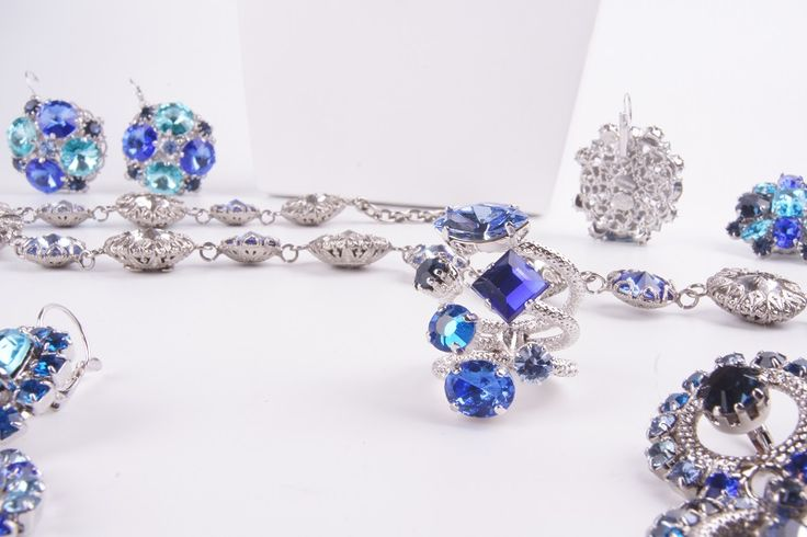 Fashion Accessories in white gold and shades of blue fit for any occasion