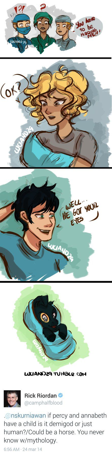 If Percy and Annabeth have a child...? by Luciand29<----I blame Percy's side of the family