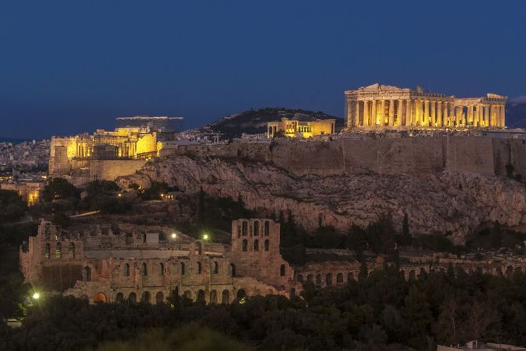 Akropola v Aténach, Grécko