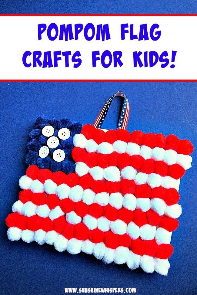Super Easy Pompom Flag Crafts For Kids Activities For Kids