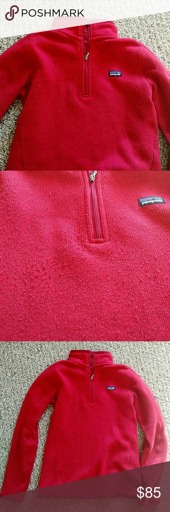 Black Friday Sale! Patagonia Better Sweater Burnt red color. Some piling, overall good shape. Warm and soft. Patagonia Sweaters