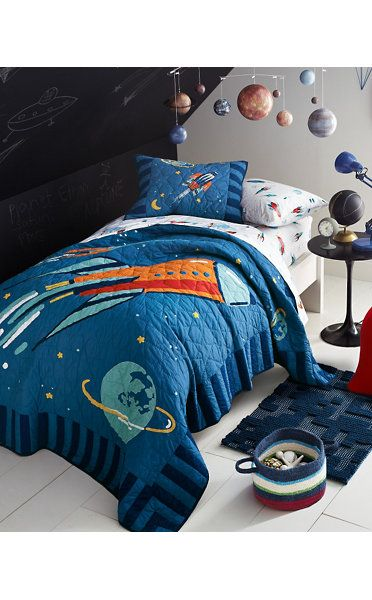 Create An Out Of This World Bedroom With Our Rockets Quilt And Rockets  Percale Bedding. Our Solar System Mobile And Accessories Help Complete The  Look.