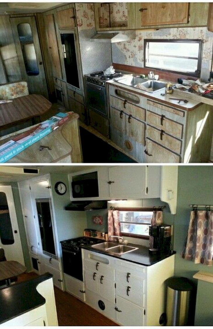 Amazing Old Camper Remodels You May Now Have Your Rv Be Like You Would Like It To Be Repairing Your Vintage Camper Remodel Remodeled Campers Camper Makeover