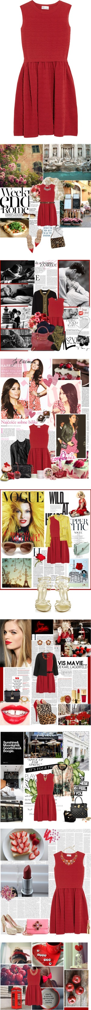 """""""8 Ways to Wear a Classic Red Valentino Dress"""" by polyvore-editorial ❤ liked on Polyvore"""