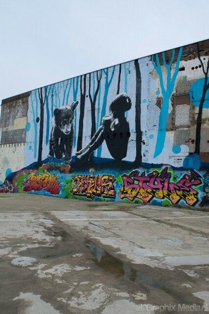 Grafitti wall,  Honigcomplex Nijmegen