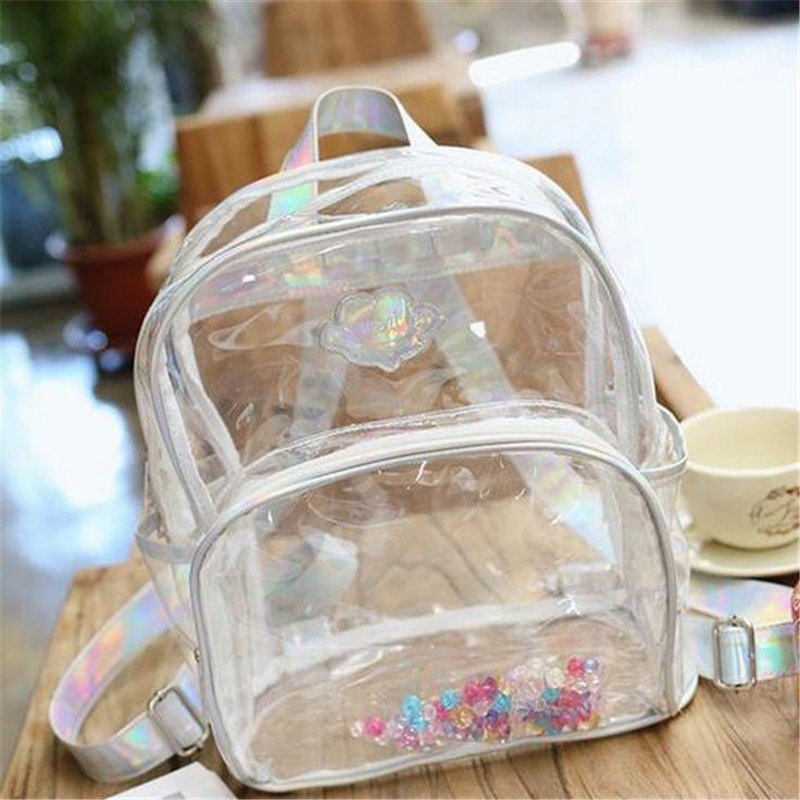 $23.99 (Buy here: https://alitems.com/g/1e8d114494ebda23ff8b16525dc3e8/?i=5&ulp=https%3A%2F%2Fwww.aliexpress.com%2Fitem%2F2016-Hot-Designer-PVC-Transparent-Backpack-Women-Fashion-Laser-Beads-Shoulder-Bag-Girl-Mini-School-Bag%2F32656161638.html ) 2016 Hot Designer PVC Transparent Backpack Women Fashion Laser Beads Shoulder Bag Girl Mini School Bag Casual Travel Bag Mochila for just $23.99