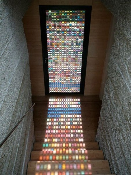 Stained glass Entry. If. I ever replace my front door...
