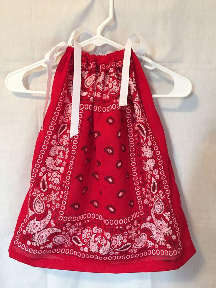 BANDANA DRESS, summer dresses, children's clothing, pillowcase dress, children's western wear by TheBabynMoreStore on Etsy https://www.etsy.com/listing/232874614/bandana-dress-summer-dresses-childrens