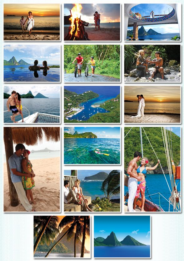 Saint Lucia Tourist Board  (800) 456-3984   www.stlucianow.com     Great place for destination Weddings!!