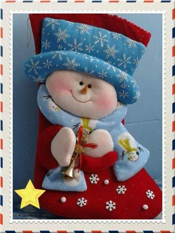 Bota con muñeco de nieve