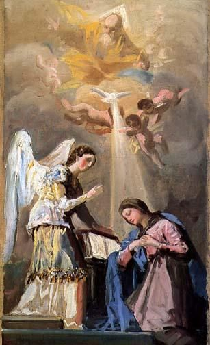 La Anunciación de Goya (1785). Boston