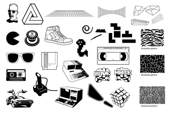 15 Unbelievably Awesome 1980s Design Resources ~ Creative Market Blog