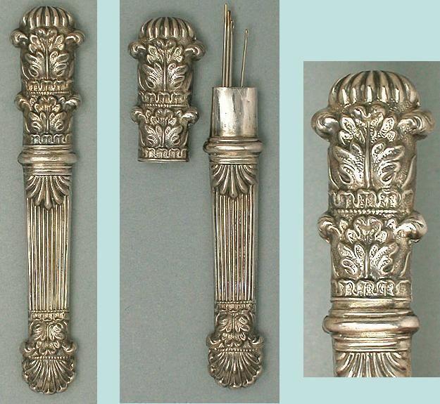 Antique English Sterling Silver Needle Case * Circa 1840 | eBay