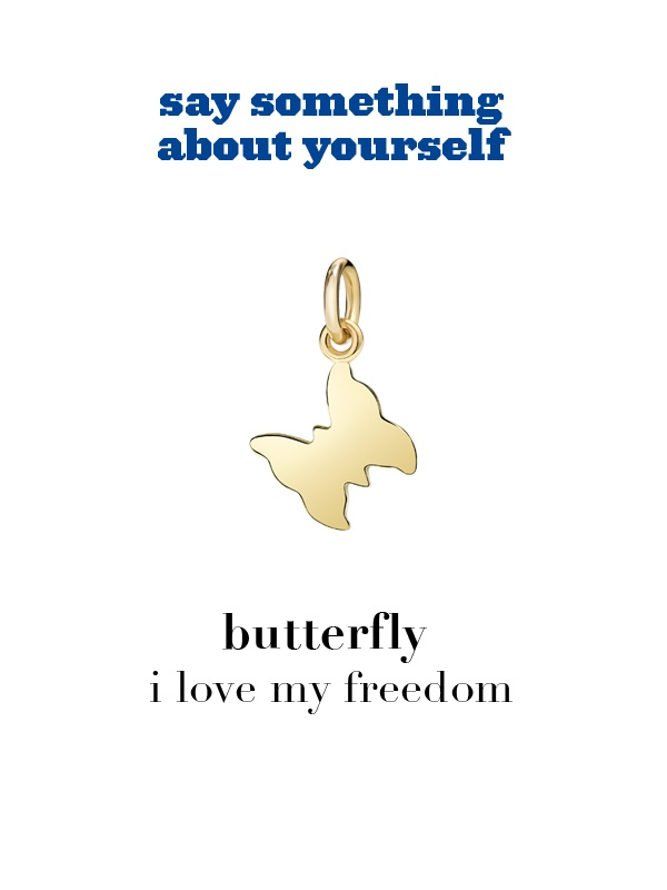 Dodo charm: butterfly - i love my freedom