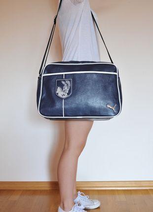 Kup mój przedmiot na #vintedpl http://www.vinted.pl/damskie-torby/torby-na-ramie/9963239-granatowa-torba-marki-puma