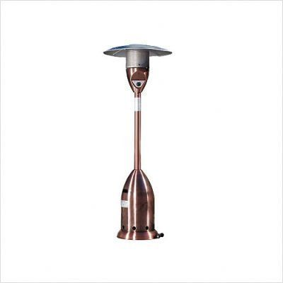 Bundle-18 Copper Deluxe Patio Heater (Set of 2) by Fire. $1609.99. [***INCLUDED IN THIS SET: (2)Copper Deluxe Patio Heater] Features: -Heat Range: Up to 18 ft. diameter.-Reliable Piezo igniter.-Stainless steel burners & heating grid.-Uses standard 20 lb LPG BBQ tank NOT INCLUDED.-Safety auto shut off tilt valve.-Weighted base for stability.-Ships in one carton.-Consumption Rate (Approx)10 hrs 20 lb LPG tank. Specifications: -47,000 BTU's. Assembly Instructions: -Conven...