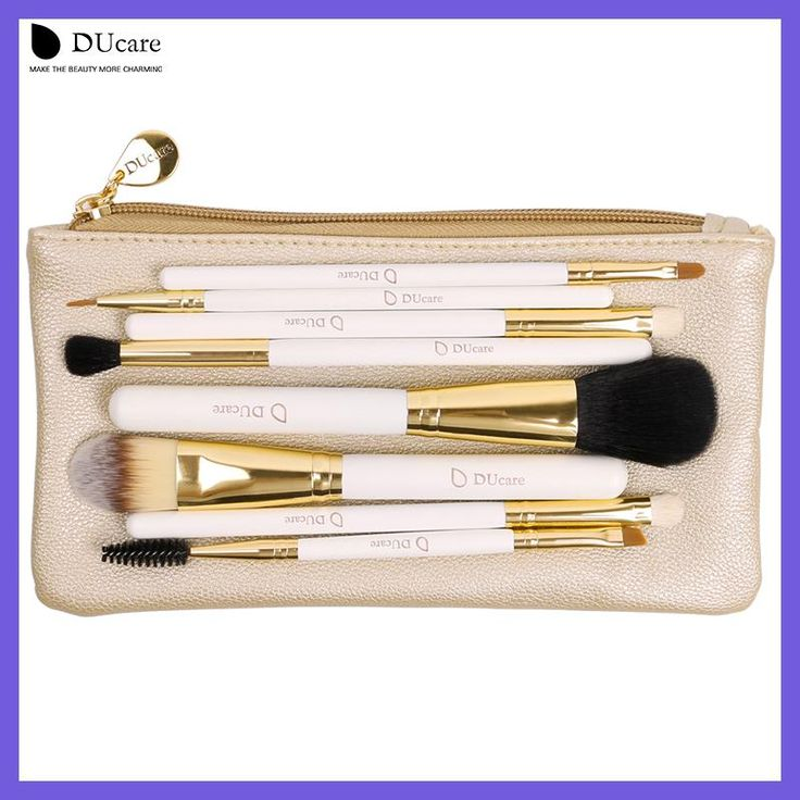 DUcare Professional Makeup Brush Set 8pcs High Quality Makeup Tools Kit with bag super nice beauty essential brush set