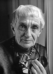 """Dorothea Lange in 1965 the year she died. A favorite quotes from her is """"One should really use the camera as though tomorrow you'd be stricken blind."""""""