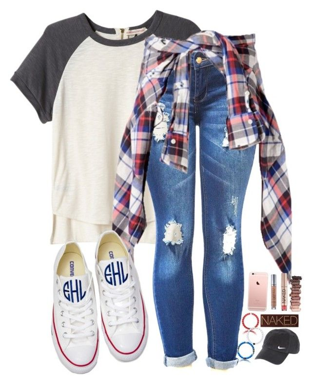 """{FALL}ing for ya"" by evedriggers ❤ liked on Polyvore featuring Rebecca Taylor, Converse, NIKE and Urban Decay"