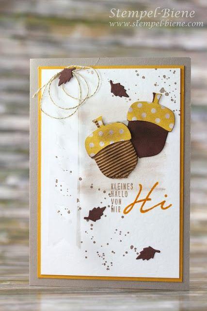Stempel-Biene: Grußkarte mit Stampin' Up Herbstgrüße