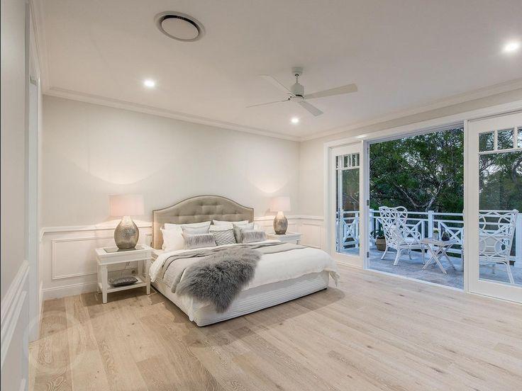 Hamptons-style master bedroom