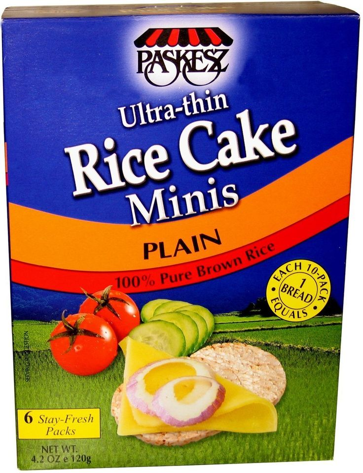Paskesz thin rice cake mini plain 42ounce packages