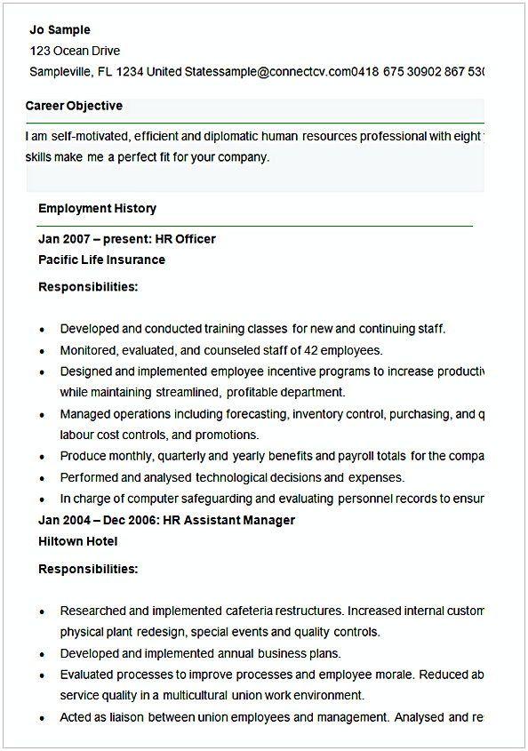 Sample Resume For Human Resources Officer Hr Manager Resume Sample This Hr Manager Resume Sample Arti Human Resources Resume Human Resources Manager Resume