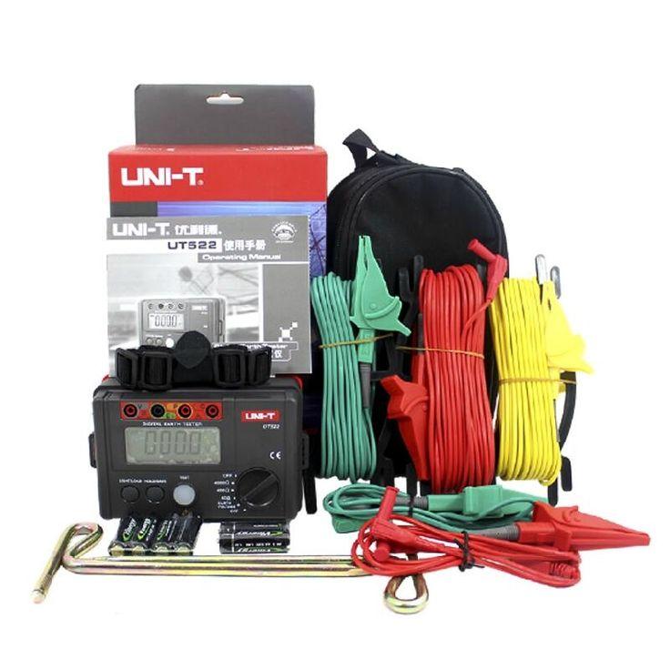 121.60$  Buy now - http://ali7vw.worldwells.pw/go.php?t=32507860800 - Free Shipping UNI-T UT522 Digital Earth Ground Resistance Tester Lightning Rod Lightning Detector Low tester 121.60$