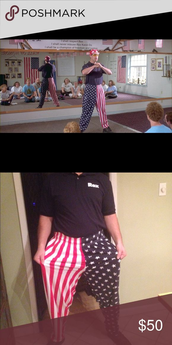 Rex Kwon Do Men Costume Rex Kwon Do from Napoleon Dynamite. Only worn once, last year for Halloween. Comes with the polo, pants and glasses, not the bandana. Perfect for Halloween! Comes from a smoke-free household. Ships same or next day! Other