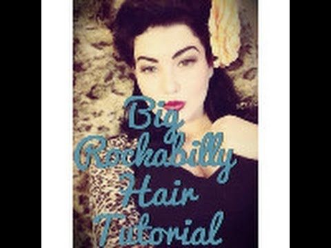 Showing you how to get Big Rockabilly Hair! You will need: Curling Iron(1in or 1 1/2in) Hairspray(to hold hair) Clips(to section hair) Bobby Pins(to secure h...