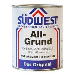 Südwest Allgrund is een professionele roestwerende grondverf. Snelle harding en hechting. Goede dekking en tot 100 graden hittebestendig.