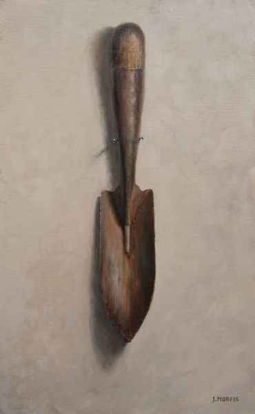 In My Youth I Was Greener • My Latest Painting: The Story of a little garden shovel. http://helloartsy.com/green-garden-shovel-painting/