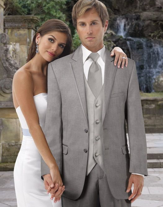 All of our tuxedo rentals are guaranteed to fit or your money back! We love the grey suit by Anderson's Formalwear!