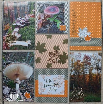 Magical Scrapworld: pocket page, fall, birthday banners, colorful seasons, pocket page, scrapbooking, Stampin' Up!, project life