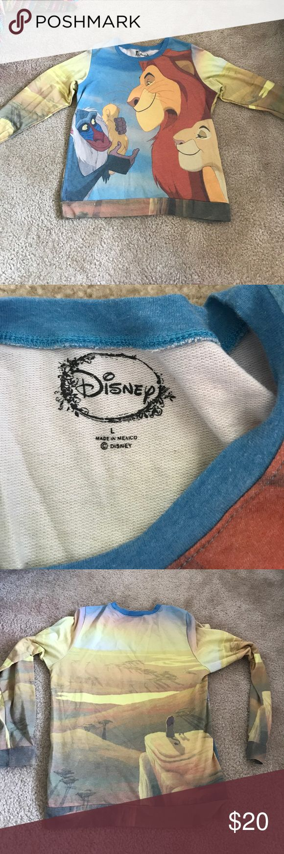 Disney's Lion King Shirt Lion King long sleeve shirt. Size Large , perfect condition, worn twice. OffersAccepted Tops Tees - Long Sleeve
