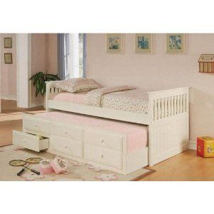 bed I would like...: Twin, Idea, Girl, White, Kids, Daybeds, Bedroom, Trundle Bed