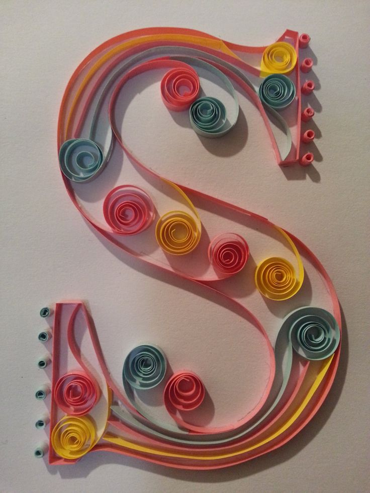 quilled monogram letter s via etsy paper typography