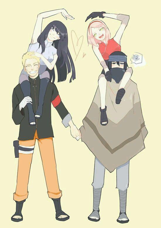 Sakura y Sasuke; Naruto y Hinata                                                                                                                                                                                 Más
