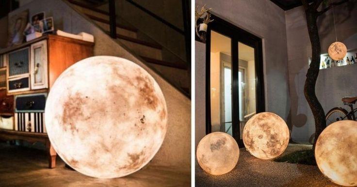 lámpara luna decoración