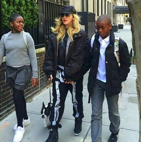Madonna was spotted walking in New York with her... - Madonna Now