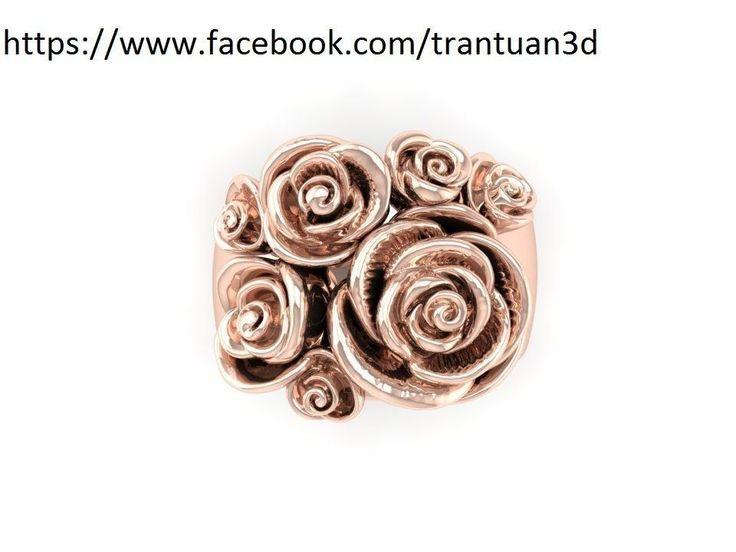 16 rose ring 3d model stl 1
