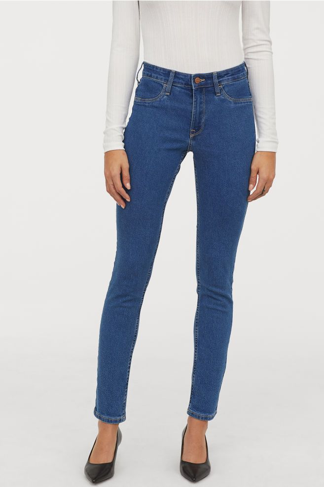 b7208dfbd H&M Skinny Regular Ankle Jeans - Blue in 2019 | Get in my closet ...