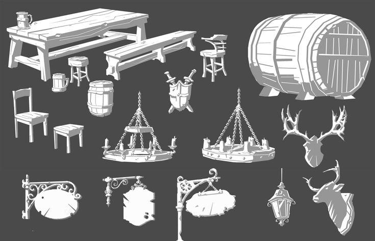 ArtStation - Overwatch - Eichenwalde: Tavern Interior, Nick Carver
