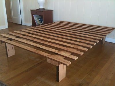 simple twin bed frame blueprints | FORWARD THINKING FURNITURE: Very, very simple bed frame