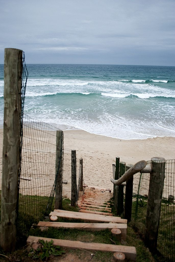 stairs to the beach, florianópolis, brazil #nature #seascapes